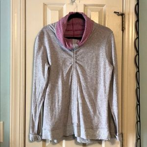 Lululemon Grey and Pink Striped Reversible Jacket